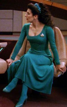 Star Trek: The Next Generation (1987) - Commander William Riker (Jonathan Frakes), Deanna Troi (Marina Sirtis)   One of the most memorab...