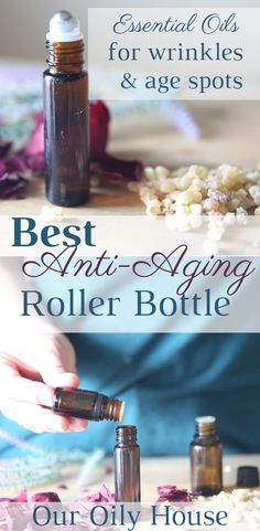 Roller bottle recipe and face serum for anti-aging Best Essential Oils for Anti-Aging. Homemade facial serum recipe and ultimate anti-aging roller bottle recipe for all skin types. Essential Oils For Face, Young Living Essential Oils, Essential Oil Blends, Myrhh Essential Oil, Helichrysum Essential Oil, Homemade Essential Oils, Frankincense Essential Oil, Rose Essential Oil, Creme Anti Age