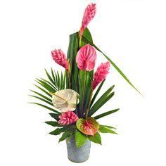 Fête des mères, colis de fleurs en vrac exotiques, Maman j'adore