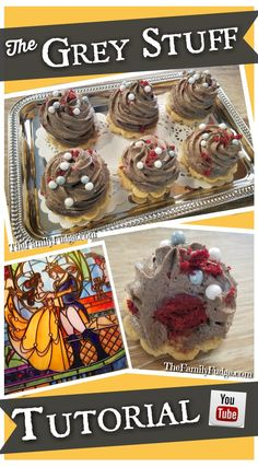 This is a copycat recipe of the Grey Stuff gateau found for a limited time at the Red Rose Tavern inside Disneyland California. Just in time for the new live-action Beauty and the Beast movie, this recipe is delicious and SURPRISINGLY easy! Disney Dishes, Disney Desserts, Disney Snacks, Disney Food Recipes, Kid Recipes, Delicious Desserts, Dessert Recipes, Yummy Food, Recipes