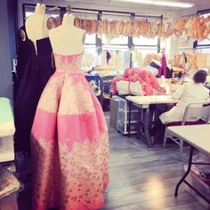 Quiet weekend in the studio getting ready for #Resort2017 and #CFDA awards. The creating never stops!
