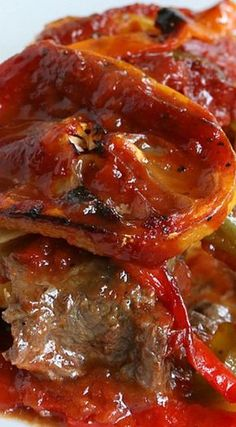 French Delicacies Essentials - Some Uncomplicated Strategies For Newbies Spanish Steaks - The Acid In Tomatoes Is A Natural Tenderizer, And A Tasty One, Too. Steak Recipes, Cooking Recipes, Cooking Corn, Spanish Dishes, Spanish Food, Spanish Recipes, Spanish Stew, Spanish Cuisine, Spanish Tapas