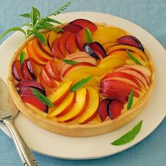 Summer Stone Fruit Tart with Lemon Curd | Sippity Sup