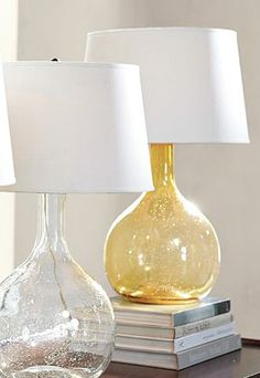 love these glass table lamps  http://rstyle.me/n/igpu9pdpe