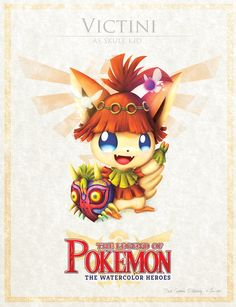 Aww this is flipping adorable! :) Victini was always one of my favorite's