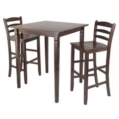 Winsome Kingsgate HighPub Dining Table with Ladder Back High Chair 3Piece *** You can get additional details at the image link.Note:It is affiliate link to Amazon.