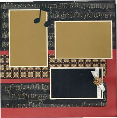 2 page Scrapbooking Layout Kit - When Words Fail, Music Speaks