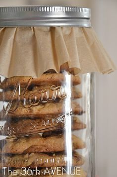 Reese's Peanut Butter Cup Cookies in a Jar.