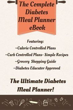 Easy menus and recipes for diabetes diet