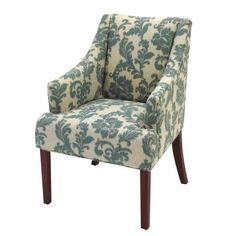 iKat Fabric Accent Armchair, Blue