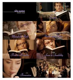 The order of the books are: - February: Emma - March: Mansfield Park - April: Northanger Abbey - May: Pride & Prejudice - June: Sense & Sensibility - July: Persuasion. The Jane Austen Book Club directed by Robin Swicord (2007) #janeausten