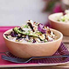 Barley and Grilled-Vegetable Salad#