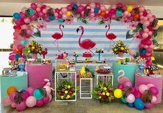 Incrível essa festa no tema Flamingo! Credito: @joaoemariafestas Decoração: @joaoemariafestas; Balões: @_eduardobentes ; Doces: @ateliertalitaavelinoDecoração: @joaoemariafestas; Balões: @_eduardobentes ; Doces: @ateliertalitaavelino #Festainfantil #FestaFlamingo #Flamingo #FestaMenina 1st Birthday Girl Decorations, Birthday Party Themes, Flamingo Birthday, Flamingo Party, 35th Birthday, 1st Birthday Girls, Tumblr Birthday, Tropical Party, Childrens Party