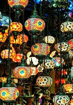 5 ball Arabian Mosaic Lamps Moroccan by BeautyofTurkey on Etsy