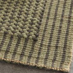 Handwoven Loop Jute Green Rug (8' x 10') - for the dining room