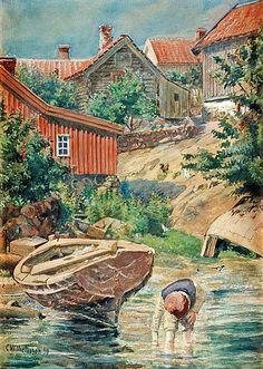 Carl Wilhelmson - Wading Boy, Fiskebäckskil
