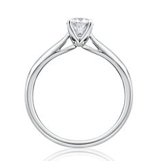 Shiels Express - Solitaire Diamond Engagement Ring in 18ct White Gold
