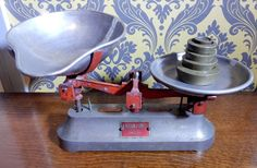 Vintage, A Hudson & Sons Scales and weights, shabby chic, Farmhouse Kitchen, boho, retro by bespokebydionne on Etsy