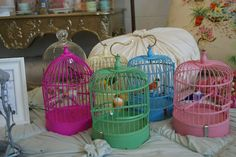 Sweet little bird cages from Carousel Boutique