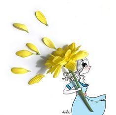 Adolie Day illustration Portfolio Art Floral, Doodle Photo, Photography Illustration, Illustration Art, Flower Crafts, Flower Art, Jolie Photo, Cute Cartoon Wallpapers, Leaf Art