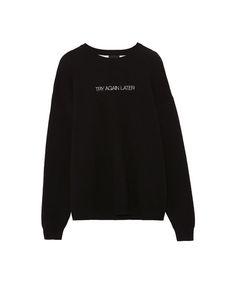 Pull&Bear - man - clothing - knit - slogan sweater - black - 09557521-I2017