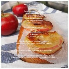 Vauvan omenalätyt Baby Finger Foods, Yams, Kid Friendly Meals, I Love Food, Baby Food Recipes, Baked Potato, Sugar Free, French Toast, Food And Drink