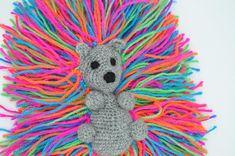 Lovely crocheted amigurumi hedgehog mini stuffed animal