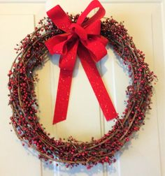 Holiday Christmas Current Berry Wreath #OneofAKindFloralDesignGifts