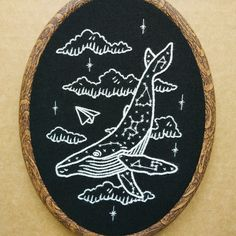 Constellation Humpback Whale Hand Embroidery Pattern PDF