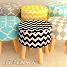 stołek fjerne s szary romby , taboret, stołek, dekoracja dom