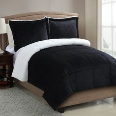 You'll love the Micro Mink Sherpa Comforter Set at Wayfair - Great Deals on all Bed & Bath  products with Free Shipping on most stuff, even the big stuff.