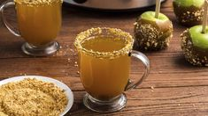 A sachet of fragrant McCormick® spices – cinnamon, clove and allspice – infuses this holiday cocktail with some of the season's most-loved flavors. Rim glasses with chopped peanuts and caramel sauce before serving. Caramel Apple Cocktail Recipe, Caramel Vodka, Caramel Apples, Cocktail Recipes, Cobbler Topping, Apple Cobbler, Holiday Cocktails, Sweet And Salty, Holiday Recipes