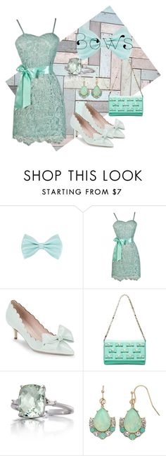 """""""Perfect Present"""" by lilyboutique ❤ liked on Polyvore featuring Kate Spade, Belk & Co., LC Lauren Conrad, dress, lace, bows and LilyBoutique"""