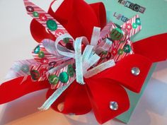 Happy Holidays Boutique Bow | RansomLetter - Children's on ArtFire