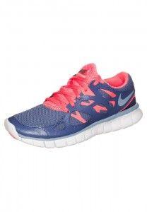 Femme Nike Free Run 2 Chaussures de fitness bleu pourpre rose blanc en solde France