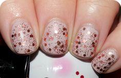Rose Gold Glitter avon nail polish wedding spring ideas 2016