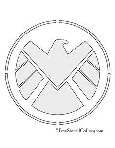 SHIELD Logo Stencil
