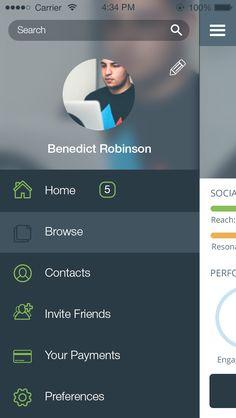 Event Tracking App More. Navigation Design, Ios App Design, Web Design, Mobile Ui Design, Interface Design, App Menu, Ui Design Tutorial, Tracking App, App Design Inspiration