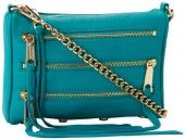 Rebecca Minkoff Mini 5 Zip H020I001 Clutch,Sea Green,One Size