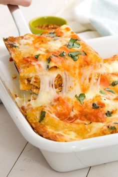 If you love vodka sauce, this cheesy lasagna recipe will steal your heart. Get the recipe from Delish.