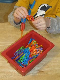 Fine Motor Activity- Linking Paper Clips