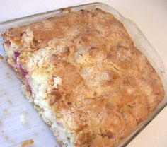 INGREDIENTS 1/2 c. butter 1 1/2 c. brown sugar 2 eggs 1/2 tsp. salt 2 c. finely chopped rhubarb 2 1/2 c. flo...