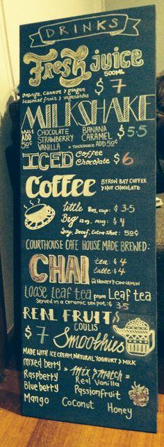 Cafe menu #typography #cafe #menu