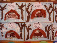 Χειμερία νάρκη / Hibernatiοn crafts Winter Art Projects, Winter Crafts For Kids, Art For Kids, Dr Seuss Crafts, Preschool Crafts, Shark Week Crafts, Bear Habitat, Christmas Window Decorations, Ocean Crafts
