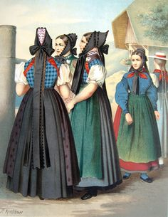 German costumes from Baden
