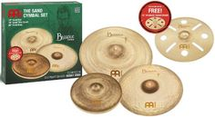 Meinl Cymbals BV-480 B16TRC Byzance Vintage Series Benny Greb Sand Cymbal Box Set Pack with FREE 16-Inch Trash Crash (VIDEO) -- Visit the image link more details.