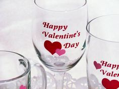 DIY Happy Valentines Day  Vinyl Decals for Glass by NotableMention