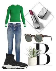 """""""bali vibes"""" by anamnae ❤ liked on Polyvore featuring Valentino, Balenciaga, Allstate Floral and Burberry"""