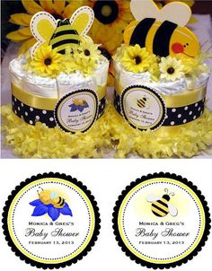 Mommy to Bee  Diaper Cakes