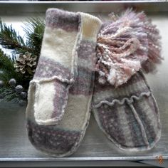 Recycle those old sweater into Felted Wool Mittens